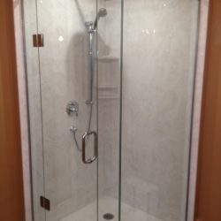 square glass shower enclosure